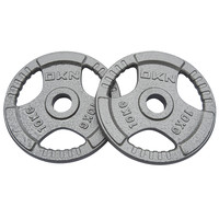 DKN Tri Grip Cast Iron Olympic Weight Plates - 4 x 2.5kg